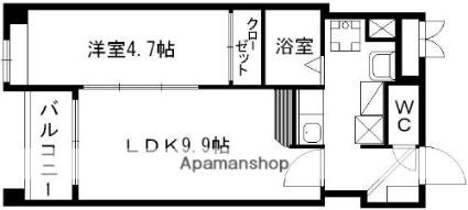 AXiS南千反畑[1LDK/30.08m2]の間取図