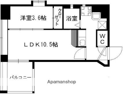 AXiS南千反畑[1LDK/28.7m2]の間取図