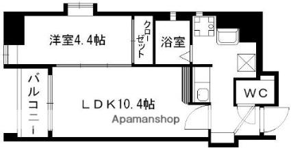 AXiS南千反畑[1LDK/30.23m2]の間取図
