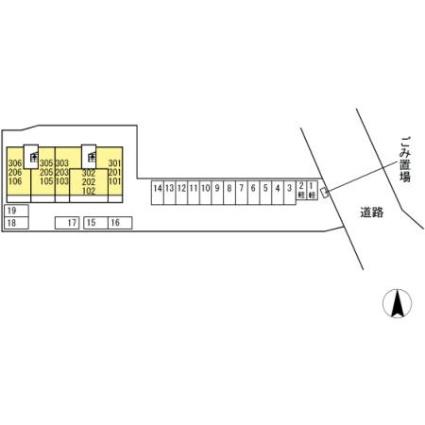 熊本県熊本市南区出仲間6丁目[1LDK/40.04m2]の配置図