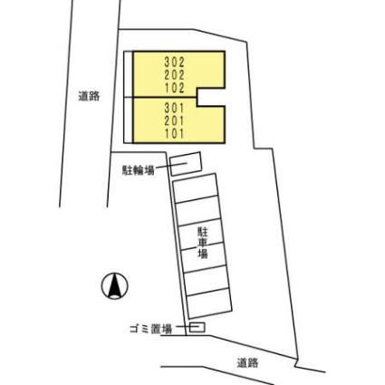 リーベン バウム[1LDK/41.26m2]の配置図
