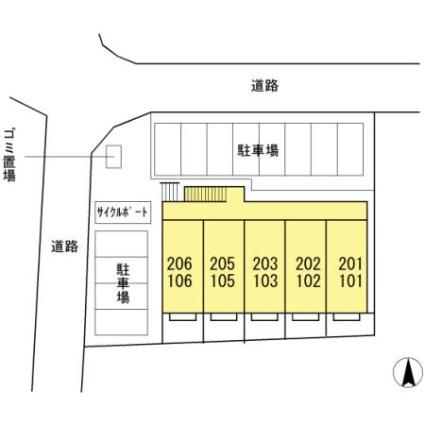 アザックみゆき[1K/30.27m2]の配置図