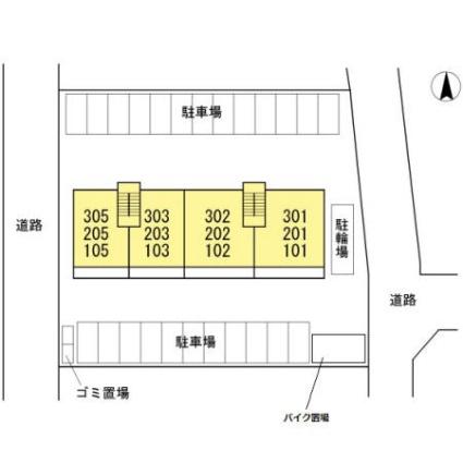 熊本県熊本市南区田井島3丁目[3LDK/68.94m2]の配置図