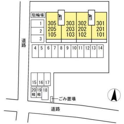 熊本県熊本市南区田迎2丁目[2LDK/48.9m2]の配置図