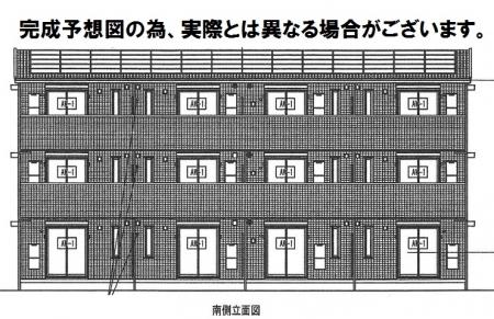 熊本県熊本市東区の新築 3階建の賃貸アパート