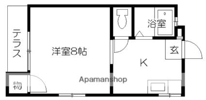 コーセイハイム[1K/26.31m2]の間取図