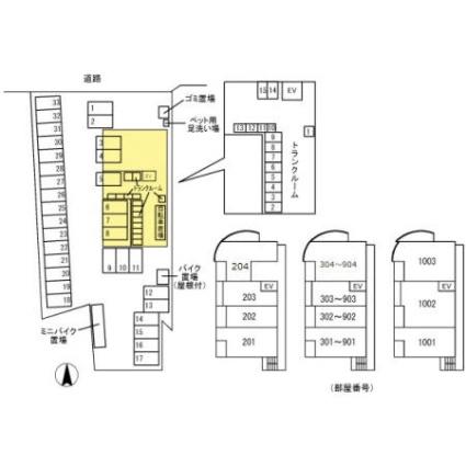 熊本県熊本市中央区九品寺2丁目[2LDK/75.25m2]の配置図