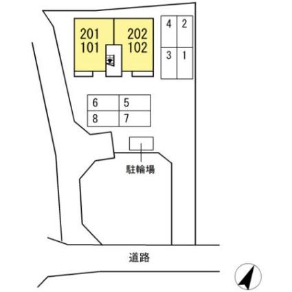 熊本県熊本市中央区出水6丁目[1LDK/38.77m2]の配置図