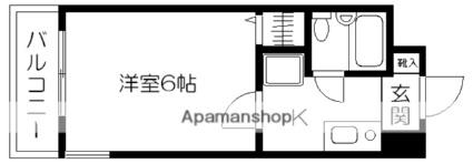 グランピア本荘[1K/17.54m2]の間取図