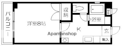 Yコーポ大江[1K/25.57m2]の間取図