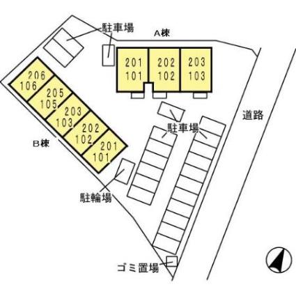 大分県豊後高田市新地[1K/26.71m2]の配置図