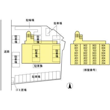 大分県大分市城崎町2丁目[3LDK/72.92m2]の配置図