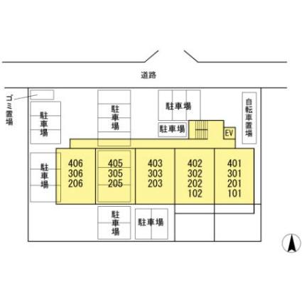 エスペランサ野崎[3DK/55m2]の配置図