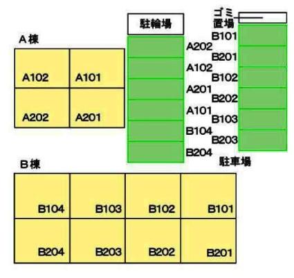 リオ・ラド・パティオ B[2LDK/50.27m2]の配置図