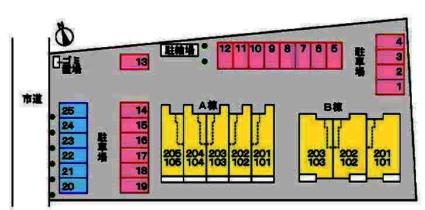 ハピネス・Ⅱ[2DK/45.82m2]の配置図