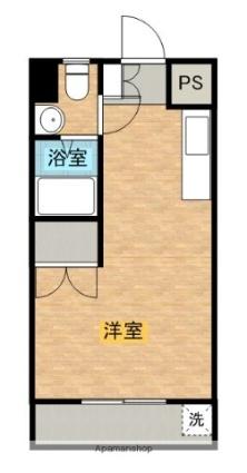 ガーデンプラザ[1R/18.33m2]の間取図