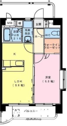 サンパティークFUTABA[1LDK/40.25m2]の間取図