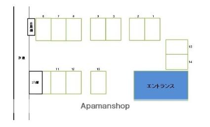 ニューライフ宮崎Ⅰ[1R/24.5m2]の配置図