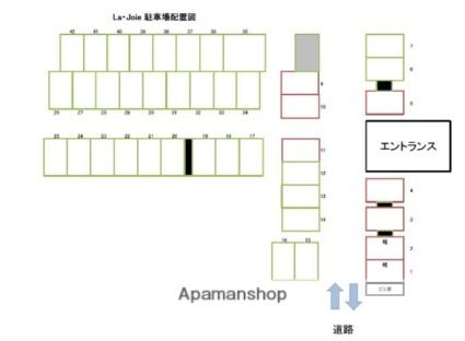 La・Joie[1K/32m2]の配置図
