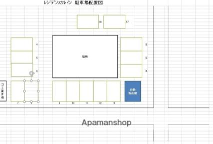 レジデンスクレイン[1K/21m2]の配置図