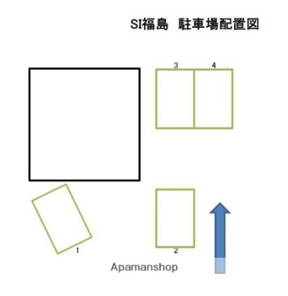 SI福島[1R/26m2]の配置図