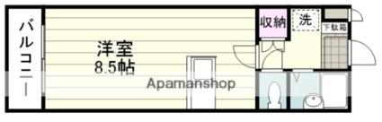 JAウイング新屋敷[1R/25.92m2]の間取図