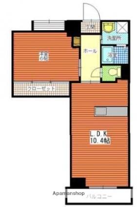 シーサイドパレス南林寺[1LDK/39.21m2]の間取図