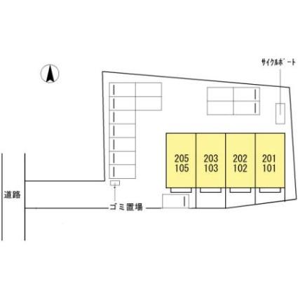 鹿児島県鹿児島市中山町[2LDK/50.68m2]の配置図