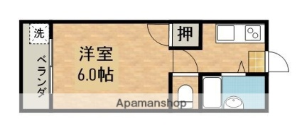 セントラルマンション[1K/21m2]の間取図