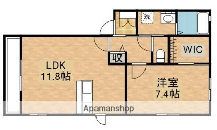 オランジュ[1LDK/48.75m2]の間取図