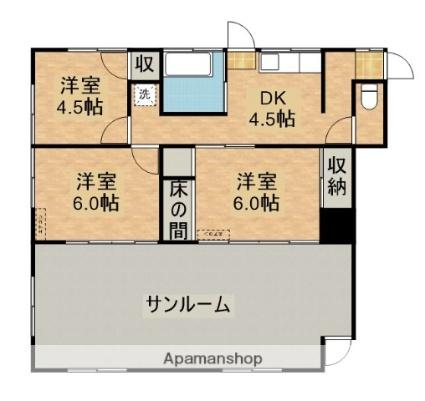 米永貸家[3DK/52.17m2]の間取図